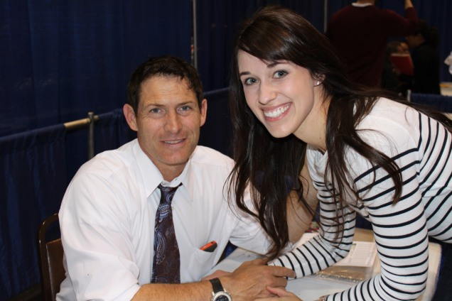 Kristen meeting the talented Steve Young in the Bay Area